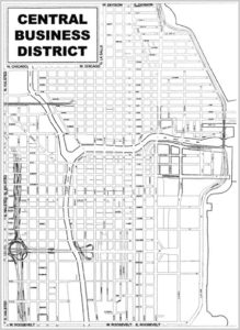 central business district map